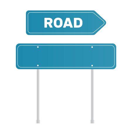 Signe de grenn de route. Plaque de rue modèle pour un texte Vecteurs