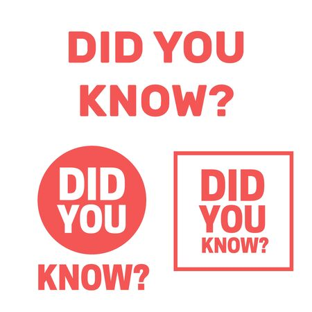 Did You Know question. did you know words