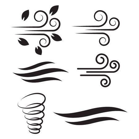 Air icon vector. Air and wind vector icon set. Air fresh vector icon Ilustração Vetorial