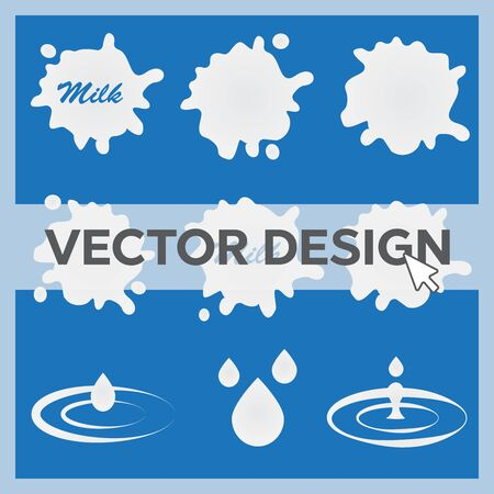 Milk and Labels Designs eps 10