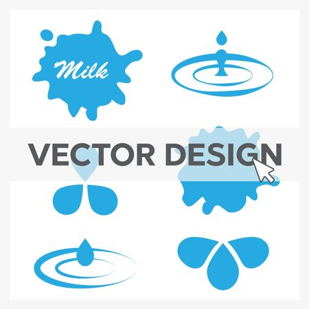 Set Of Milk Splash For Product  eps10