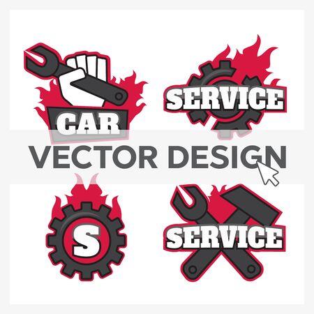 Automotive Car  Template Design. Garage  set