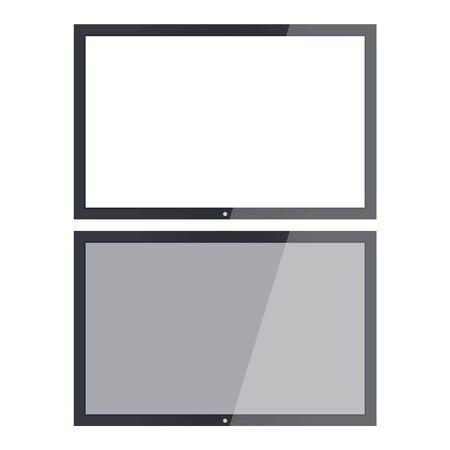 Empty tv frame transparency screen. Lcd display screen. Tv digital panel