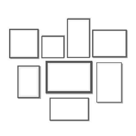 Many frame, black frame blank eps 10