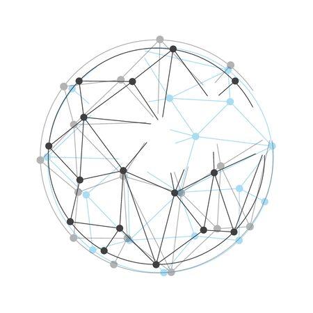 Global mesh sphere. Abstract geometric shape eps10