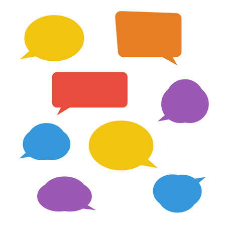 Speech bubbles isolated. Cloud bubble speech for communication