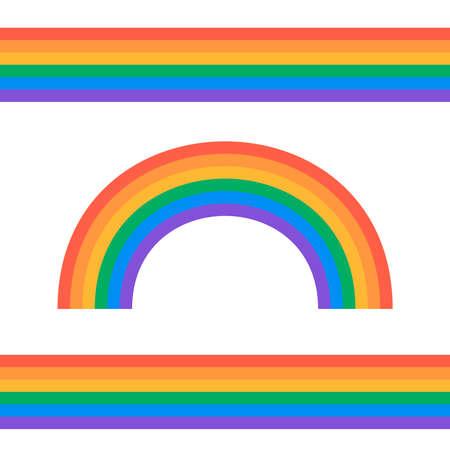 Set of rainbows white background. Rainbow 3d icon