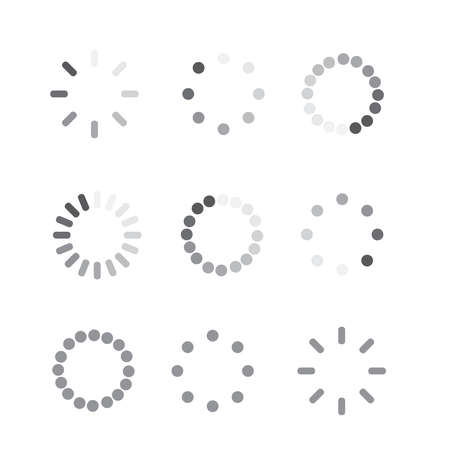 Loader progress icon. Sign progress bar. Circle wait icon Ilustração