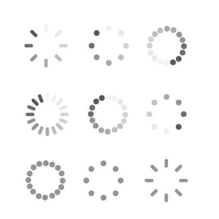 Loader progress icon. Sign progress bar. Circle wait icon  イラスト・ベクター素材