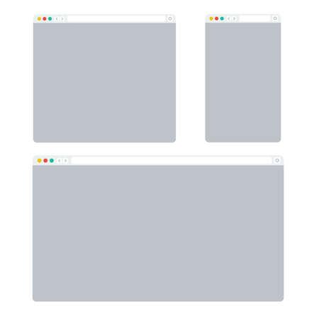 Web browser window. Web browser computer background vector Illustration