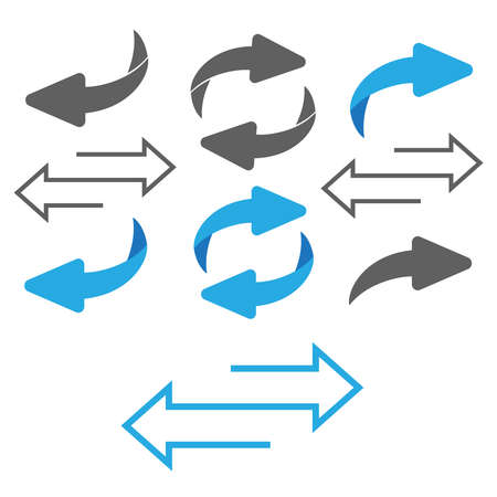 Flip over or turn arrow. Reverse sign