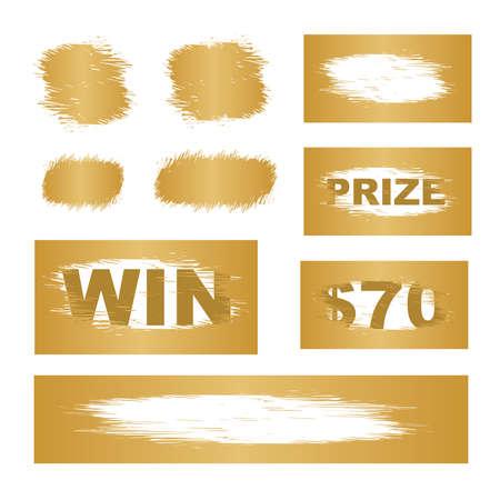 Scratch cards vector. Lottery cover for scratch card Illusztráció
