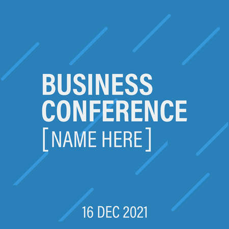 Business conference template invitation. Poster business conference background