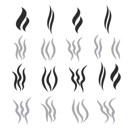 Hot steam vector shapes. Smoking vector icon  イラスト・ベクター素材