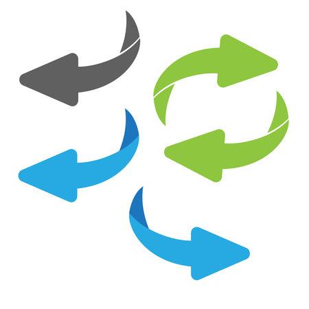 Flip over or turn arrow. Reverse sign Vecteurs