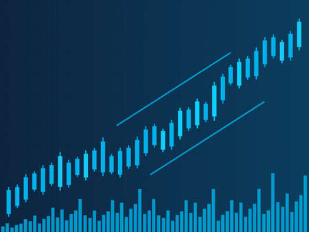 Candle stick of stock market. Financial investment concept. Bar graphic vector