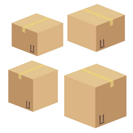 Delivery and packing box. Delivery warehouse pack Иллюстрация