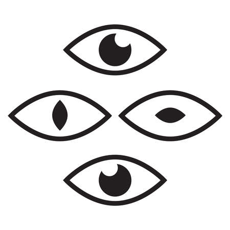 Human eye and view symbols. Icon oversight