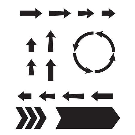 Arrow web icons. Next page navigation buttons. Interface arrow and circular Illusztráció
