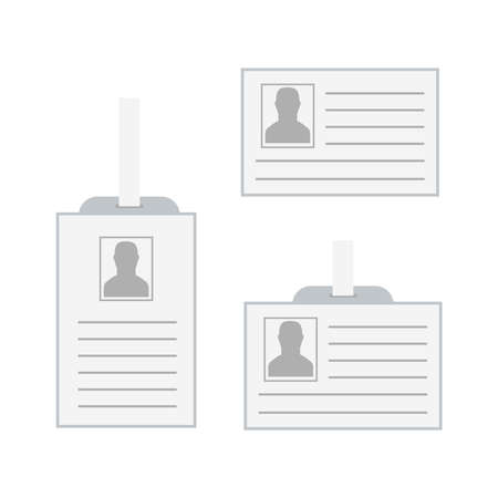 Id security cards and identification badge. Template of id card Illustration