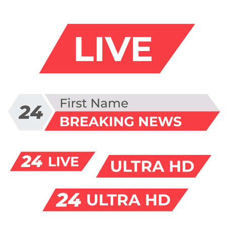 Tv vector bars and broadcast graphics. News banner for tv streaming