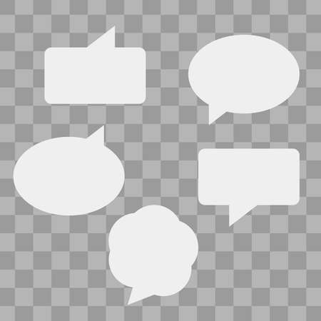 Speech bubbles isolated vector set. Cloud bubble speech for communication