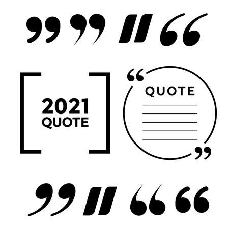 Quote frames. Blank template box