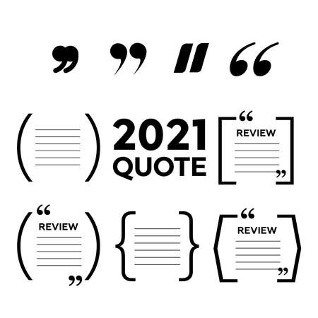 Quotes icon vector set. Quote marks symbol
