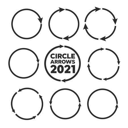 circular arrows. Arrows business infographic vector