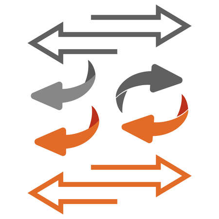 Return Icon. Flip over or turn arrow. Reverse sign