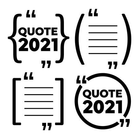 Quote frames. Blank template. Frame with quotes. Quote vector comment