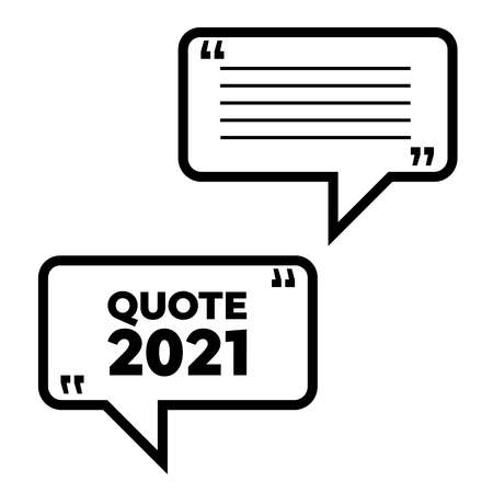 Quotation template in quotes. Frame with quotes. Quote vector comment Ilustrace