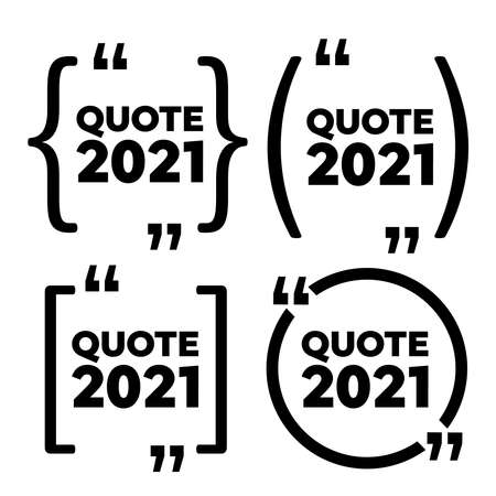 Quote frames. Quotation Mark speech bubble. Quote sign icon