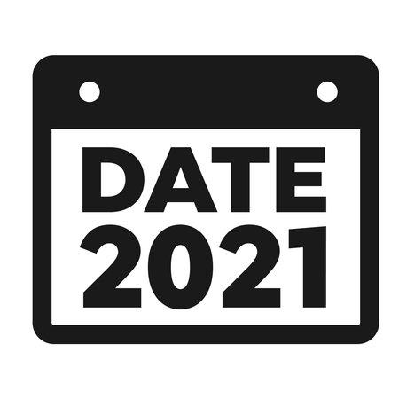 Program planner vector. Calendar vector sign