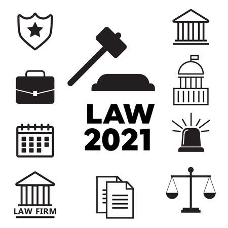 Legal compliance deal protection and copyright regulation. Lawyer flat vector illustration