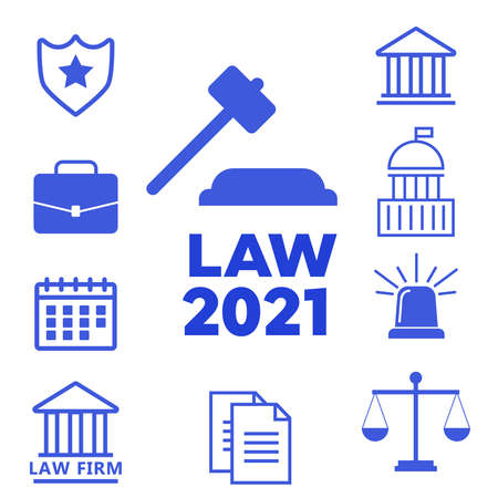 Lawyer and law office. Lawyer flat vector illustration