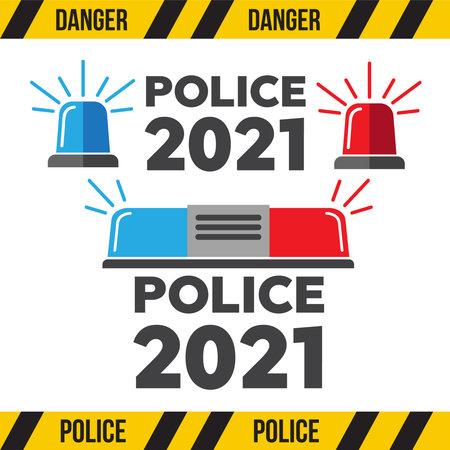 Flashing alarm signal. Flasher alert icon. Flashing light for police, ambulance