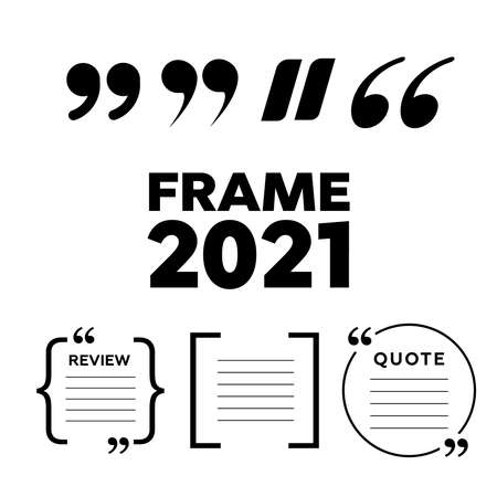Vector quote. Frame vector