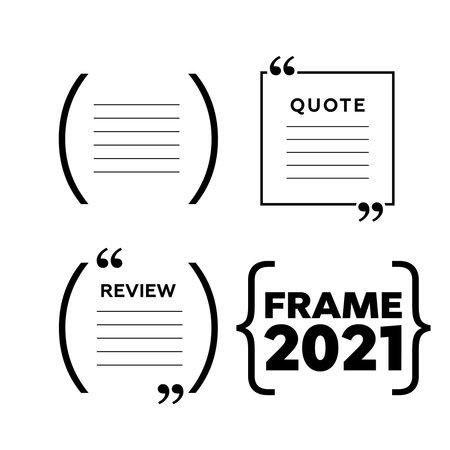 Quote box frames. Empty quote bubble. Color quote bubble.