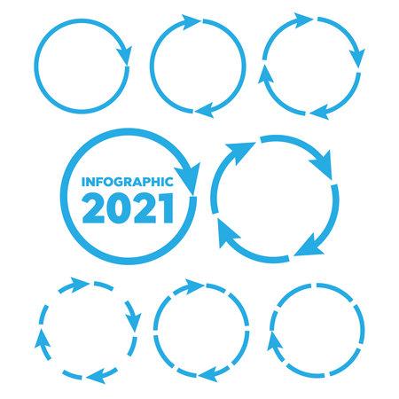 circular arrows. Arrows business infographic 2021 vector