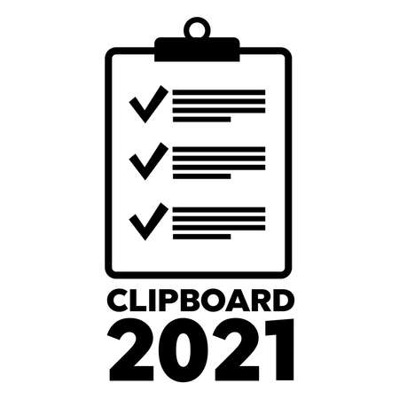 Notebook with to do list. Check list and marker clipboard 2021