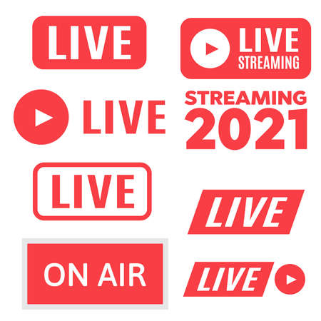 Broadcast studio on air light. Air live sign. Live Streaming 2021 icon vector