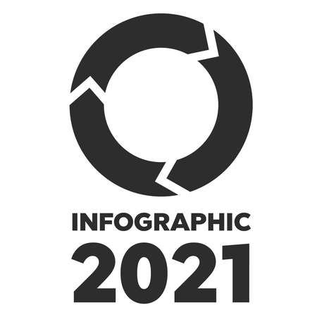 Rotation arrows icon. Circled cursor web recycling progress buttons. Infographic 2021 Vector Illustration