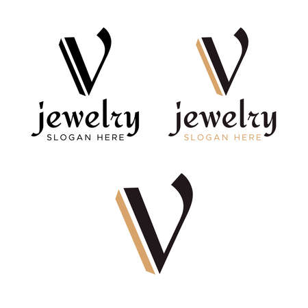 V Logo Design Template. letter V logo design vector