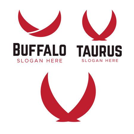 Taurus Logo Template vector. Horn logo vector