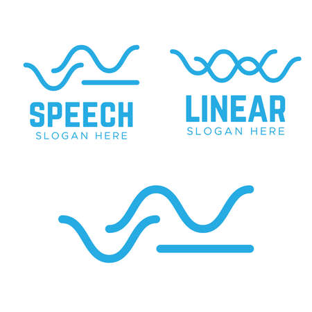 Water wave Logo Template. Swoosh Wave Logo Concept.