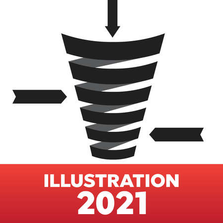 Business sales funnel infographics. Strategy business funnel marketing vector illustration