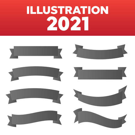 Vector ribbons set isolated. Banner ribbon vector set 矢量图像