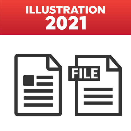 File Icons. File Icons line style illustration. Document icon set 矢量图像