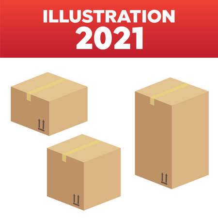 Delivery and packing box. Delivery warehouse pack Illustration